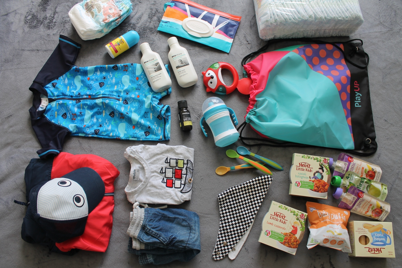 Packing for a baby