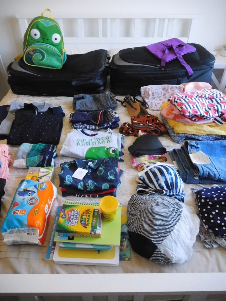How to pack for a family on a domestic flight